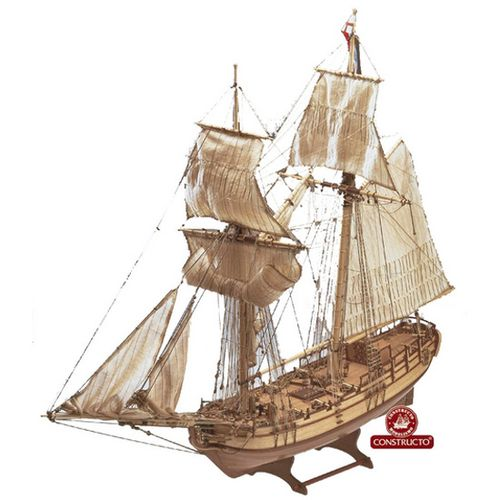 Maqueta Barco Halifax con Herramientas Escala 1:35