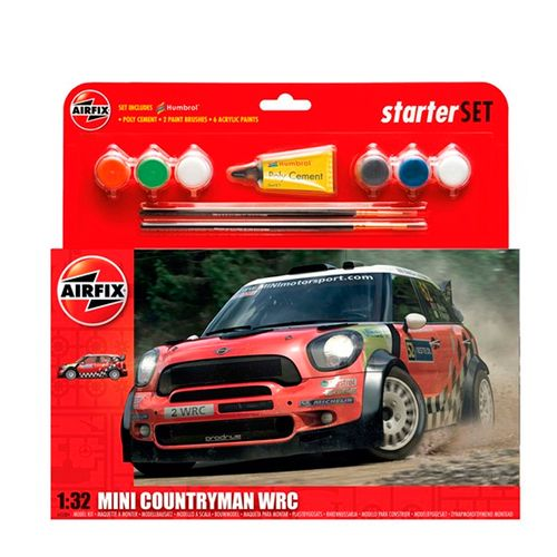 Maqueta de Coche Mini Countryman WRC Escala 1:32