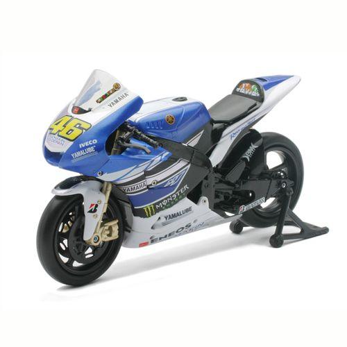 Moto Miniatura Yamaha Rossi Escala 1:12