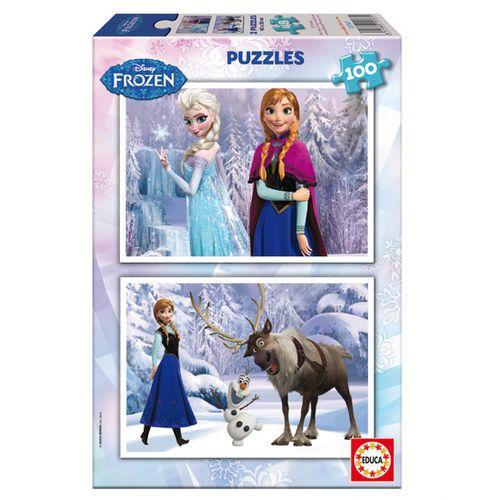 Frozen Puzzle 2x100 Piezas