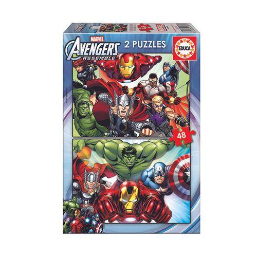 Los Vengadores Puzzle 2x48 Piezas