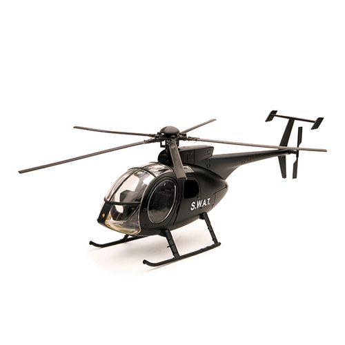 Helicóptero Miniatura NH-500 SWAT Escala 1:32