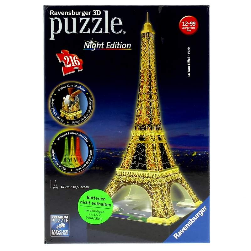 Puzzle-Torre-Eiffel-Night-3D