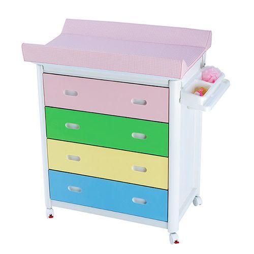 Mueble bañera PVC con cambiador colores
