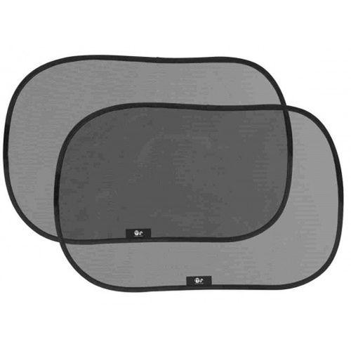 Parasol adherente ventana auto negro ( 2 uds)