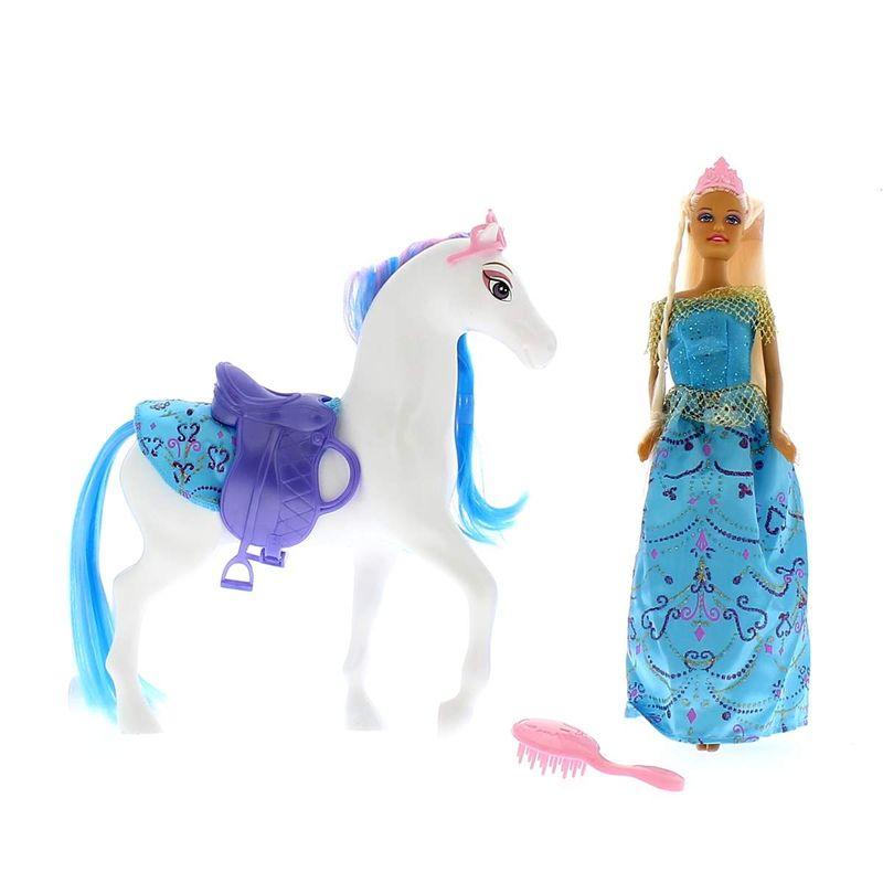 Muñeca-Con-Vestido-Azul-y-Caballo_1
