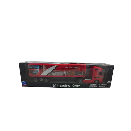 Camion-Miniatura-Mercedes-Rojo-Escala-1-43