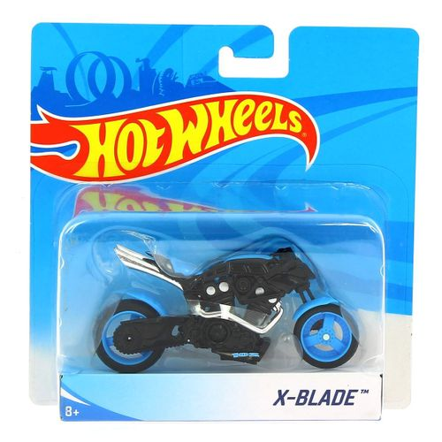 Hot Wheels Moto Blade Azul 1:18