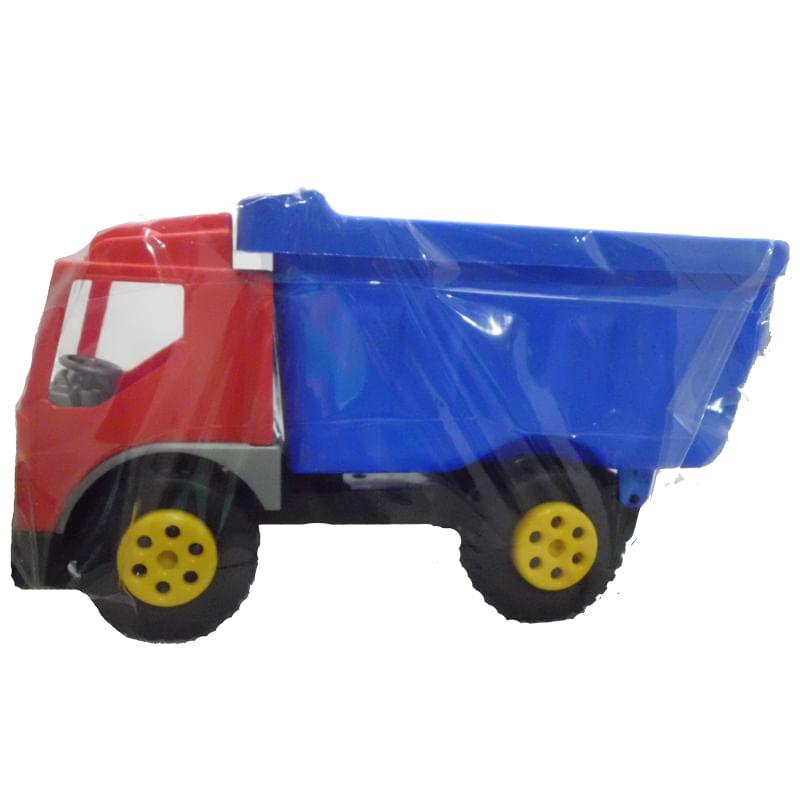 Camion-Volquete-Rojo-Y-Azul