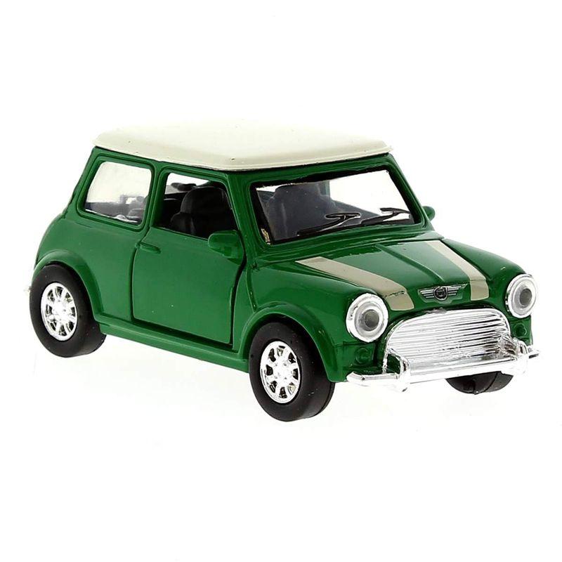 Coche-Miniatura-Mini-cooper-Vintage-Verde-Escala-1-32