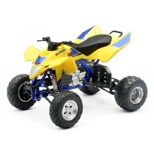 ATV Miniatura Suzuki Amarillo Escala 1:12
