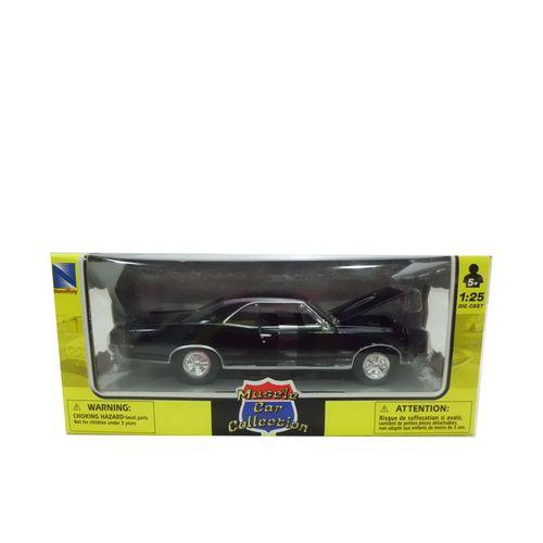 Coche Miniatura Pontiac Clásico Americano Negro Escala 1:24