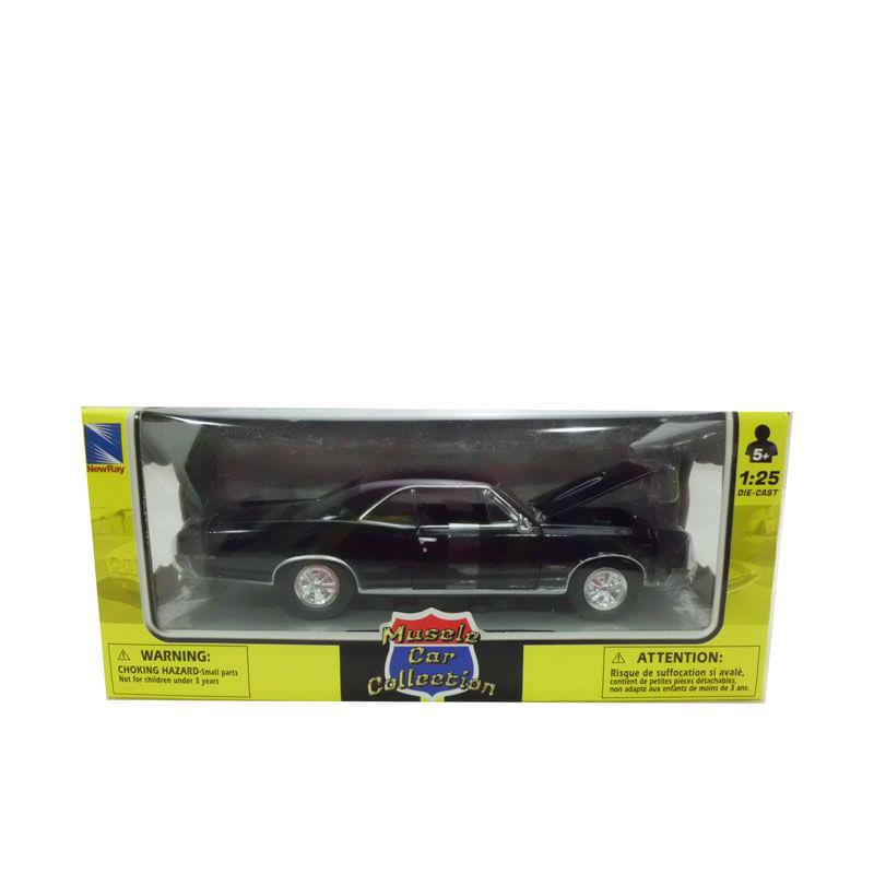 Coche-Miniatura-Pontiac-Clasico-Americano-Negro-Escala-1-24