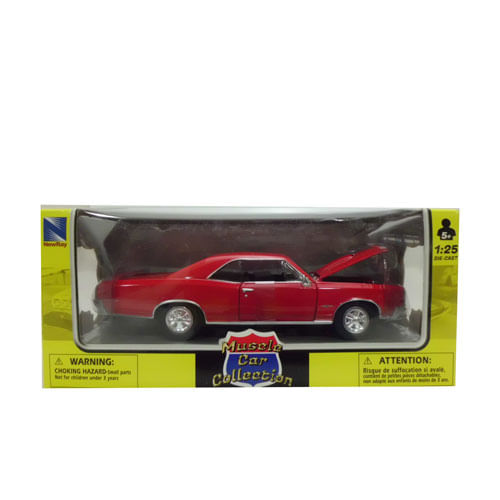 Coche Miniatura Dodge Clásico Americano Rojo Escala 1:24