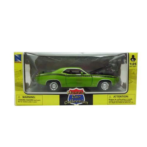 Coche Miniatura Plymouth Clásico Americano Verde Escala 1:24