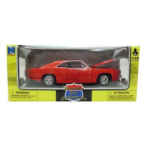Coche Miniatura Pontiac Clásico Americano Rojo Escala 1:24
