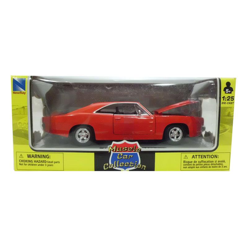 Coche-Miniatura-Pontiac-Clasico-Americano-Rojo-Escala-1-24