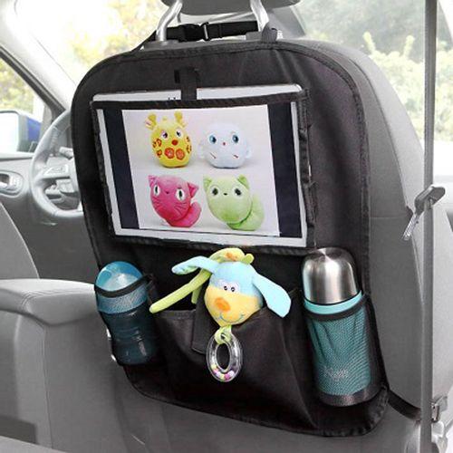 Organizador auto con bolsillo para tablet