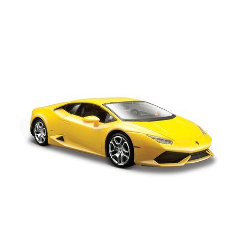 Coche Miniatura Lamborghini Huracán LP610 Amarillo Escala 1:24