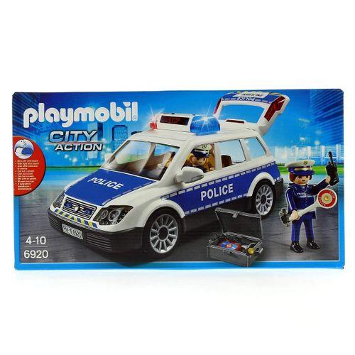 Playmobil City Action Coche de Policía con Luces y Sonido