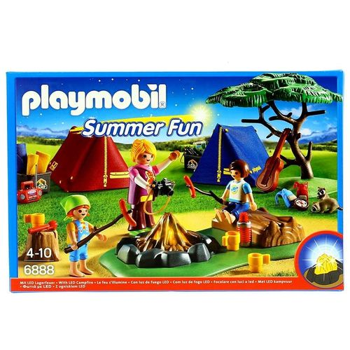 Playmobil Summer Fun Campamento de Verano con Fuego LED