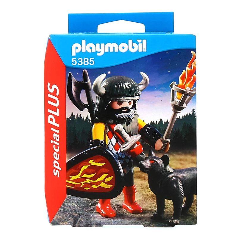 Playmobil-Special-Plus-Guerrero-con-Lobo