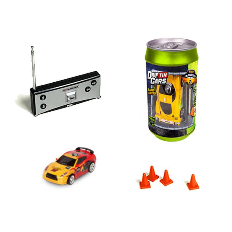 Coche-RC-Drifting-Cars-Lata-Rojo-Amarillo-Escala-1-58