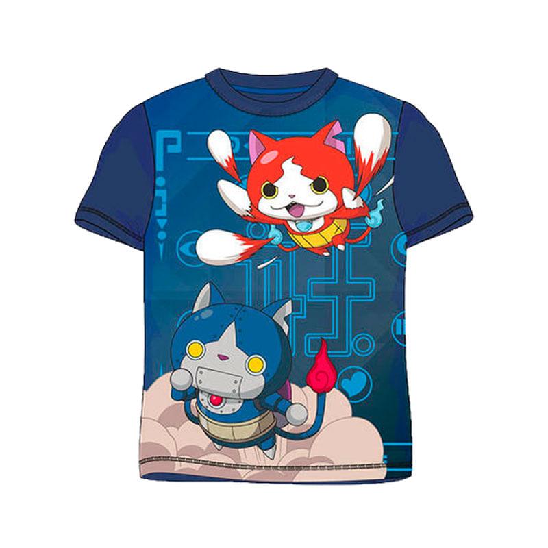 Yo-Kai-Watch-Camiseta-Azul-Marino