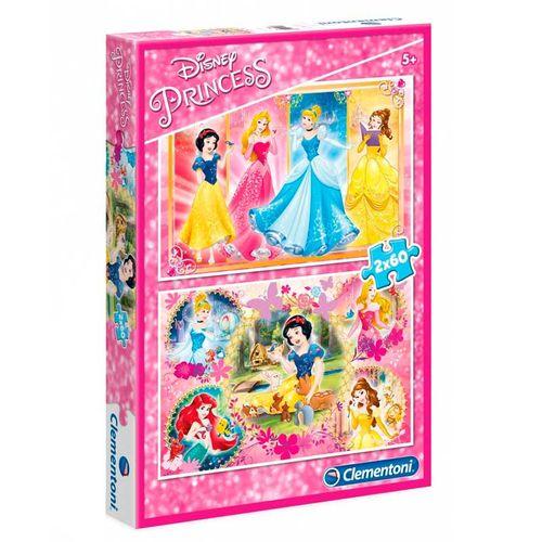 Princesas Disney Puzzle 2 x 60 Piezas