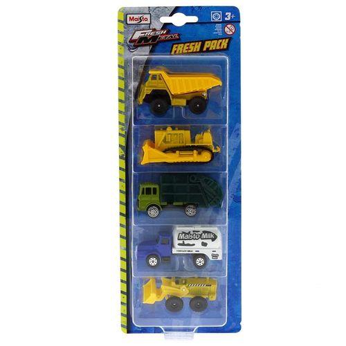 Vehículos Fresh Pack Construción Camiones Escala 1:72