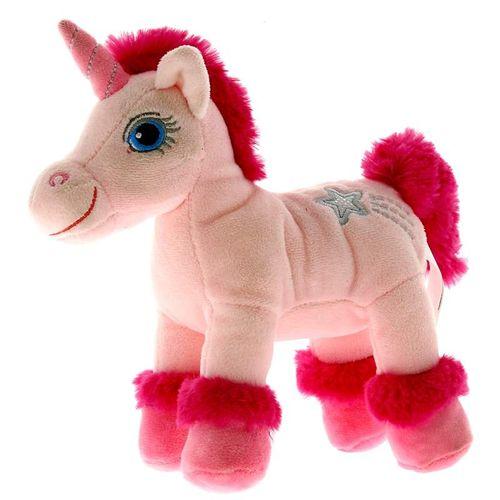 Unicornio de Peluche Rosa y Fucsia con Sonido