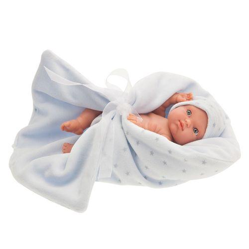 Mufly Bebé Recién Nacido con Mantita Azul