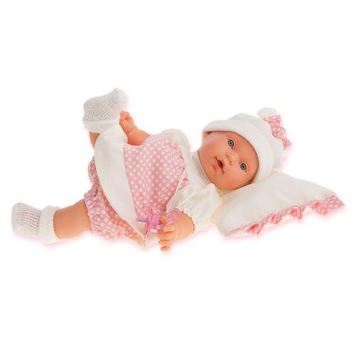 Kika Bebé con Cojín Blanco