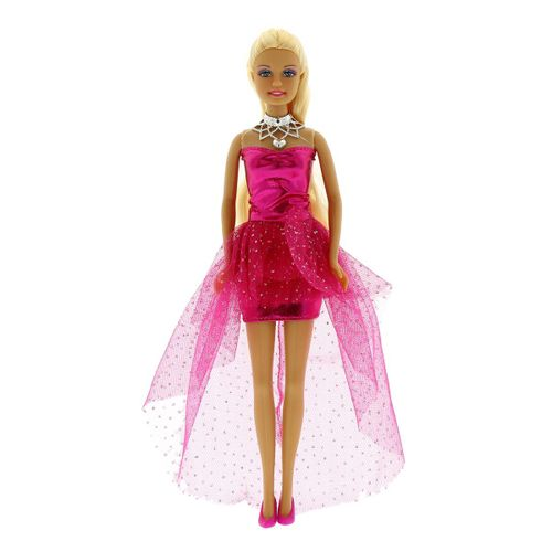 Muñeca Defa Lucy Vestido de Fistea Fucsia