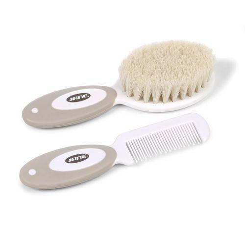 Cepillo y peine suave Beig