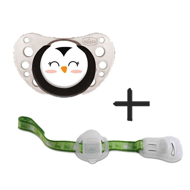 Pack-Chupete-silicona---cadena-portachupete-12m--Pinguino