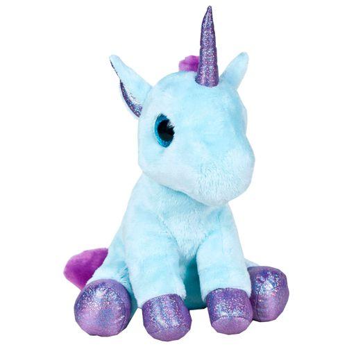Peluche Unicornio Azul 25 cm