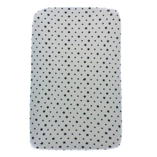 Bajera Minicuna en punto algodón Estrellas gris