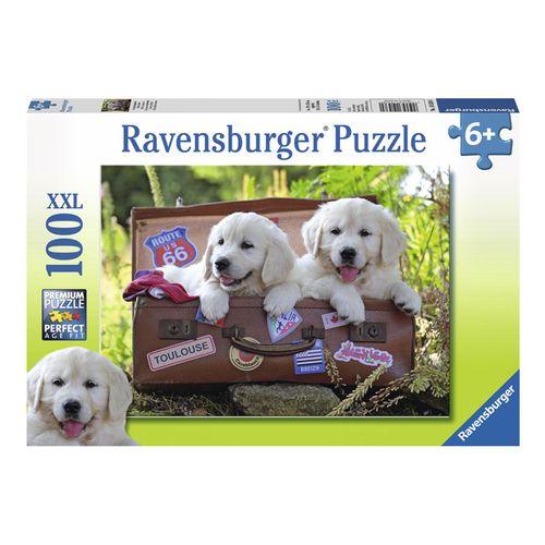 Puzzle Cachorros Labrador de 100 Piezas XXL