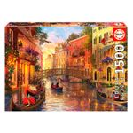 Puzzle-Atardecer-en-Venecia-de-1500-Piezas
