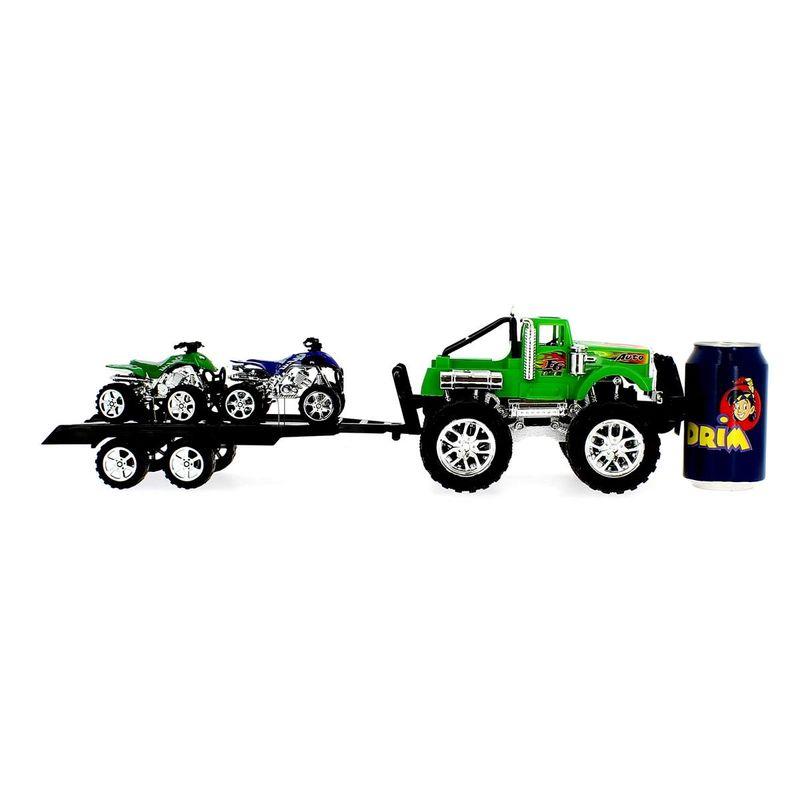Coche-Crusher-Verde-con-Remolque-y-Quads_3