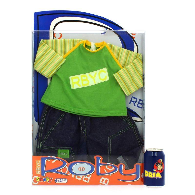 Muñeco-Roby-Conjunto-Camiseta-Verde-y-Pantalon-Tejano_2