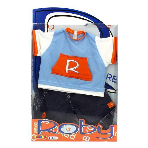 Muñeco Roby Conjunto Camiseta Azul y Pantalón Tejano