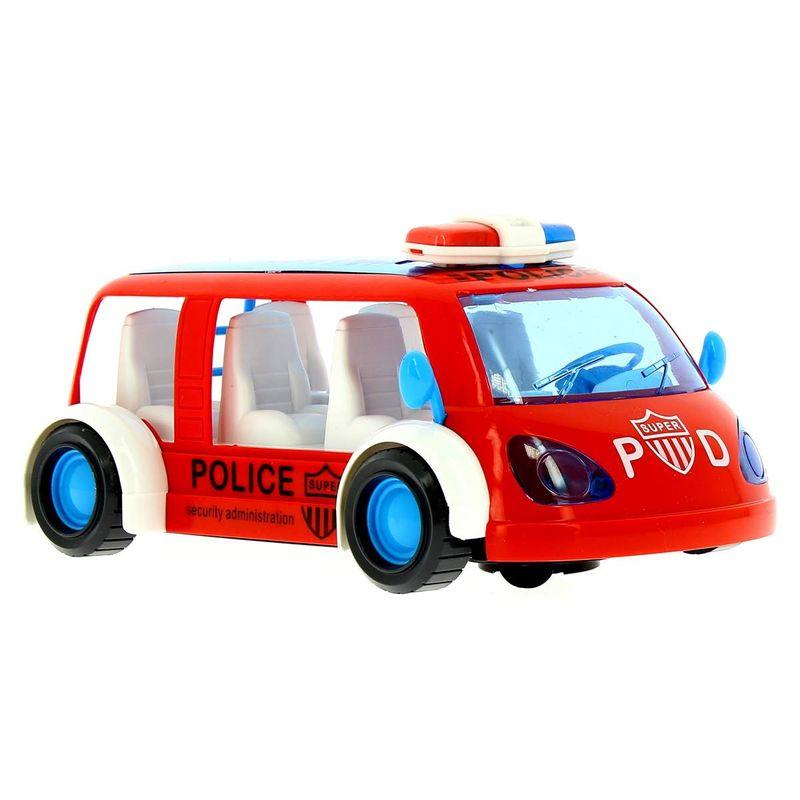 Vehiculo-de-Policia-Infantil-Salva-Obstaculos-Rojo