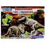Arqueojugando-T-Rex-y-Triceratops