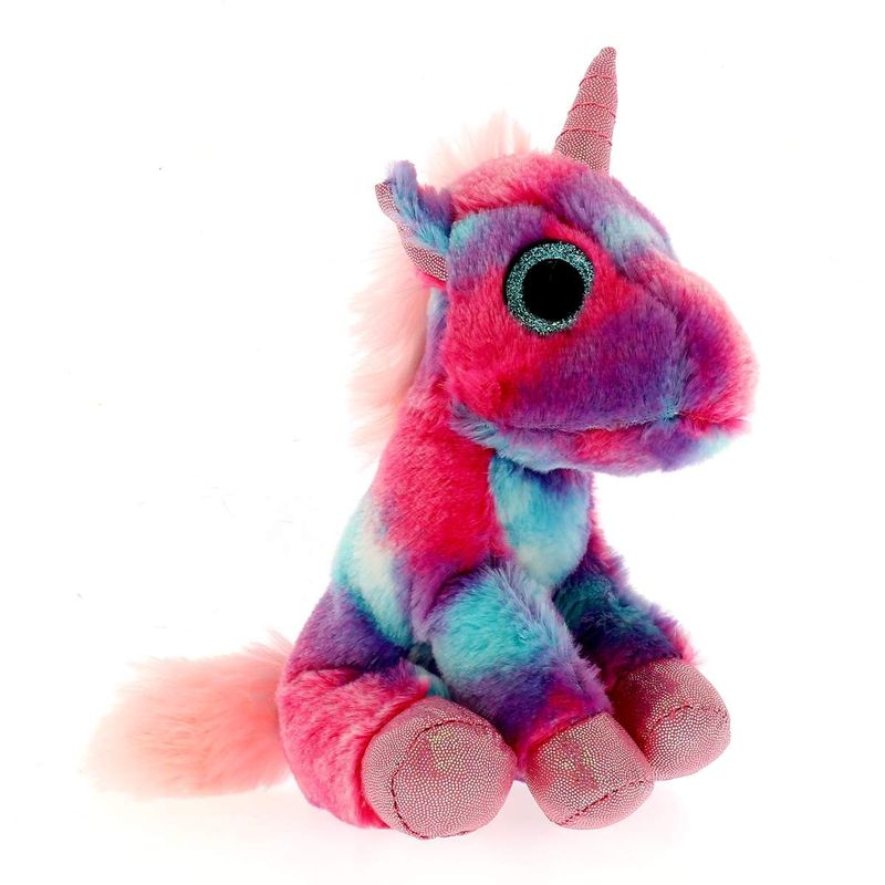 Peluche-Unicornio-Multicolor-Rosa-17-cm