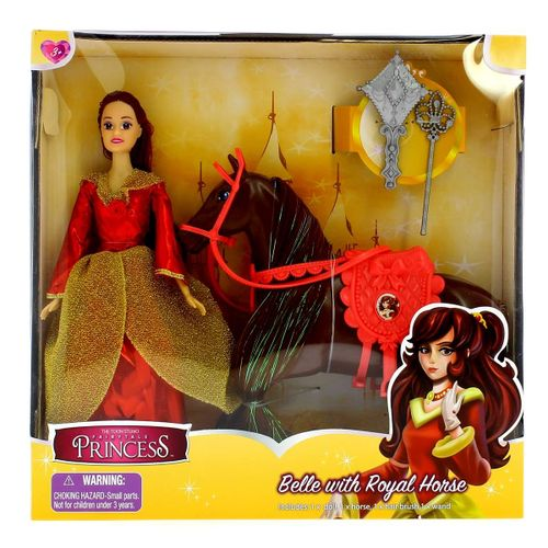 Muñeca Princesa Belle con Caballo
