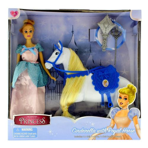 Muñeca Princesa Cinderella con Caballo