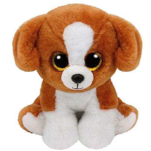Beanie Boo's Perro Marrón de Peluche de 15 cm