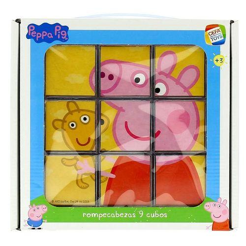 Peppa Pig Rompecabezas de 9 cubos